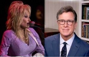 Dolly Parton's performance of 'Bury Me Beneath The Willow' makes Stephen Colbert cry – watch