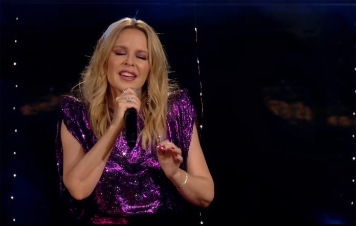 Watch Kylie Minogue's piano-led cover of Earth, Wind and Fire's 'September'
