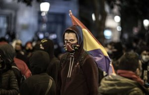 Street protests continue in Barcelona for sixth night after jailing of rapper Pablo Hasél