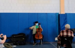 Cellist Yo-Yo Ma plays gig in vaccination centre after receiving COVID-19 jab