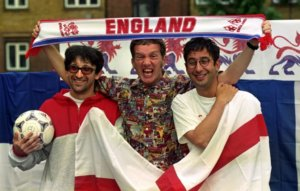 Watch The Lightning Seeds play pre-Euros final gig with Baddiel and Skinner